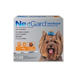 Antipulgas e Carrapatos Merial Nexgard 11,3 mg para Cachorro de 2 a 4 Kg