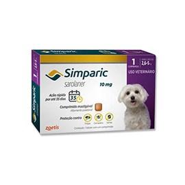 Antipulgas Simparic 10 mg para cães 2,6 a 5 kg - Zoetis