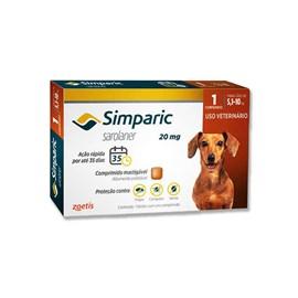 Antipulgas Simparic 20 mg para cães 5,1 a 10 kg - Zoetis