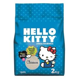 Areia Higiênica Bio clássica azul Hello Kitty  Gatos - 2kg