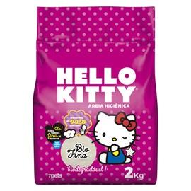 Areia Higiênica Bio Fina rosa Hello Kitty para Gatos - 2kg