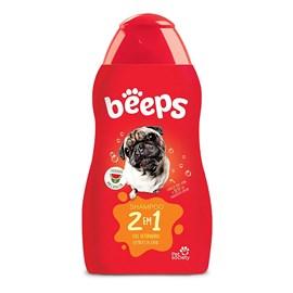 Beeps Shampoo 2 em 1 Pelos Curtos 500ml