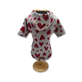 Blusa Fábrica Pet Moletom Coração