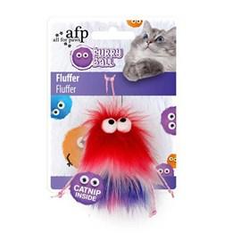 Brinquedo AFP Furry Ball Fluffer Vermelho para Gatos