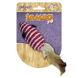 Brinquedo Rato Com Pena Para Gatos Jambo