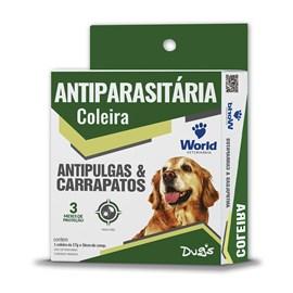 Coleira Dugs Antipulgas e Carrapatos p/cães - World