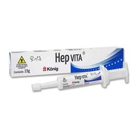 Hep Vita Estimulante Função Hepática Cães e Gatos 15g - König
