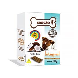 Krocao Biscoito Integral Palito Coco 200g