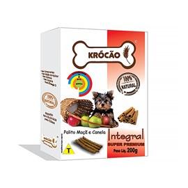 Krocao Biscoito Integral Palito Maca C/ Canela 200Gr