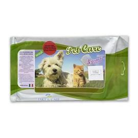 Luvas Úmidas Descartáveis para Banho Hipoalergênico Pet Care 5 Unidades