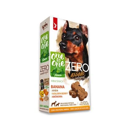 Mini Snack ZERO Spin Pet - Banana + Abobora + Aveia