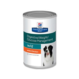 Ração Hills Canine Prescription Diet W/D Lata - 370 g
