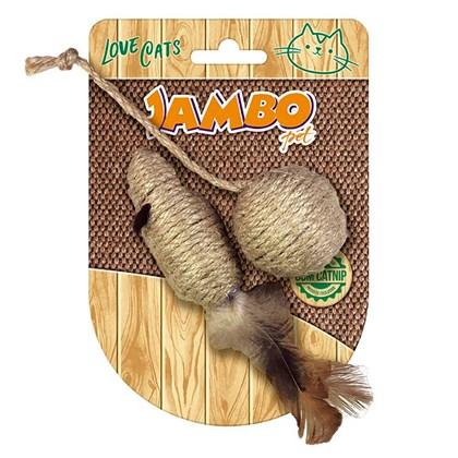 Rato com Bola Natural Para Gatos Jambo