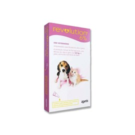 Revolution 6 Rosa Bis 0,25ml Cães e Gatos