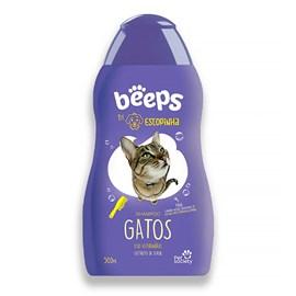 Shampoo Pet Society Beeps Estopinha Gatos Extrato de Aveia 500ml